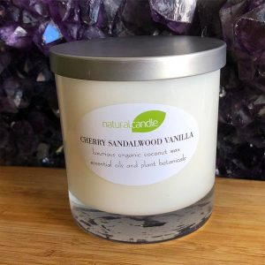 natural candle in luxury glass by diane addison